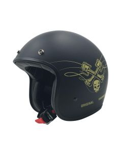 AFX FX-76 Vintage Jet Helmet Raceway Matte Black/Gold
