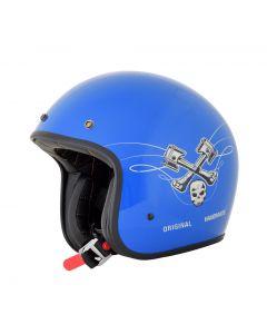AFX FX-76 Vintage Jet Helmet Raceway Gloss Denim/Bone