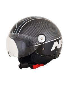 AFX FX-33 Scooter Helmet Veloce Gloss Black/Silver