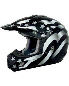 AFX FX-17 Offroad Helmet Flag Flat Black