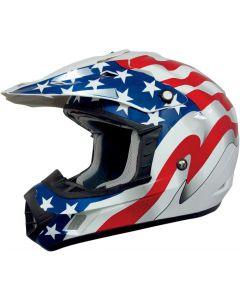 AFX FX-17 Offroad Helmet Flag Gloss White