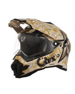 AFX FX-41 DS Dual Sport Helmet Marpat Flat Multi