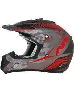 AFX FX-17 Offroad Helmet Factor Flat Gray/Black/Red
