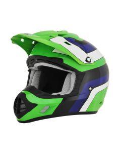 AFX FX-17 Offroad Helmet Vintage Gloss Green/Blue/Black/White