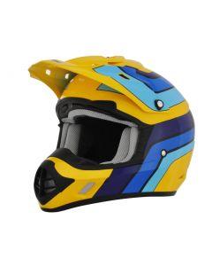 AFX FX-17 Offroad Helmet Vintage Gloss Blue-Yellow