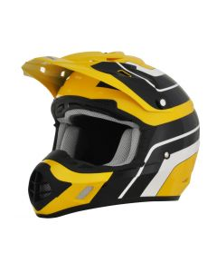 AFX FX-17 Offroad Helmet Vintage Gloss Yellow-Black-White