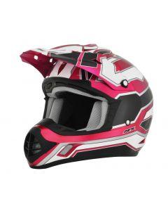 AFX FX-17 Offroad Helmet Works Gloss Pink-White-Black