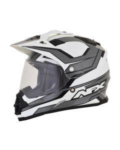 AFX FX-39 Dual Sport Helmet Veleta Gloss black/white/gray