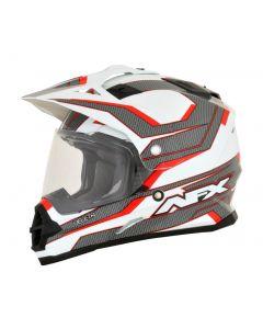AFX FX-39 Dual Sport Helmet Veleta Gloss Red/White/Gray