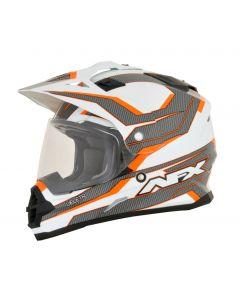 AFX FX-39 Dual Sport Helmet Veleta Gloss Orange/White/Gray
