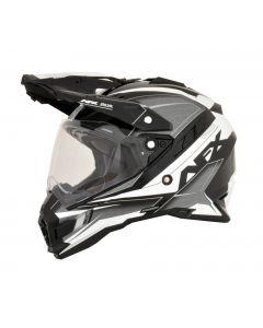 AFX FX-41DS Dual Sport Helmet Eiger Gloss Silver/Black/White