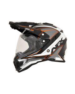 AFX FX-41DS Dual Sport Helmet Eiger Gloss Orange/Gray/Black/White