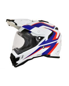 AFX FX-41DS Dual Sport Helmet AT Gloss White/Blue/Red