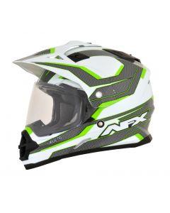 AFX FX-39 Dual Sport Helmet Veleta Gloss Bright Green/White/Gray