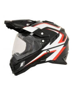 AFX FX-41DS Dual Sport Helmet AT Gloss Black/White/Red