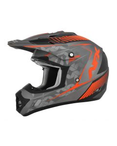 AFX FX-17YE Offroad Helmet Factor Matte Frost Gray/Safety Orange