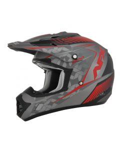 AFX FX-17YE Offroad Helmet Factor Matte Frost Gray/Red