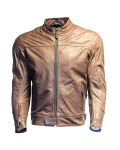 Richa Café Mens Leather Long Sleeve Jacket Brown 54