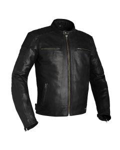 Richa Daytona Mens Leather Long Sleeve Jacket Black