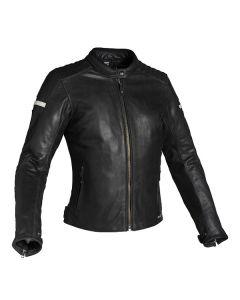 Richa Daytona Ladies Leather Long Sleeve Jacket Black