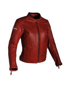 Richa Daytona Ladies Leather Long Sleeve Jacket Red