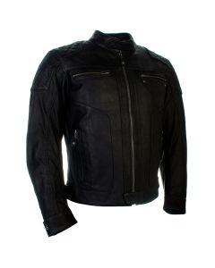 Richa Detroit Mens Leather Jacket Black