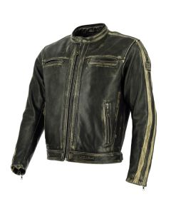 Richa Goodwood Mens Leather Long Sleeve Jacket Brown 54