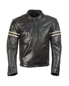 Richa Lincoln Mens Leather Long Sleeve Jacket Brown 38