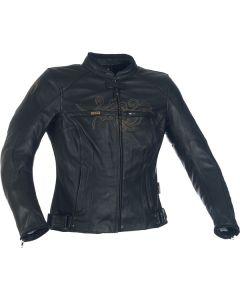 Richa Montana Ladies Leather Long Sleeve Jacket Black