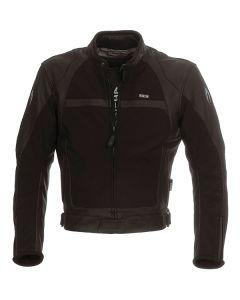 Richa Rex Mens Leather Long Sleeve Jacket Black