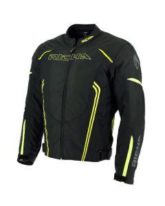 Richa Gotham Mens Textile Long Sleeve Jacket Black/Fluorescent