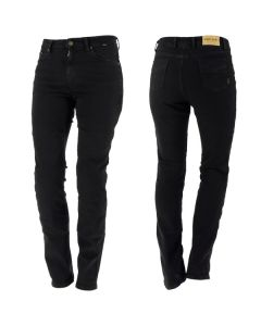 Richa Nora  Regular Fit Denim Trousers Black UK 10