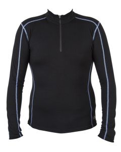 Spada Merino Wool Long Sleeve Base Layer Black UK 14