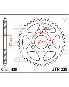 JT Sprockets Rear 36T 420 - JTR239.36