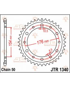 JT Sprockets Rear 43T 530 - JTR1340.43