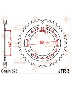 JT Sprockets Rear 42T 525 - JTR3.42