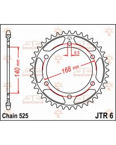 JT Sprockets Rear 42T 525 - JTR6.42