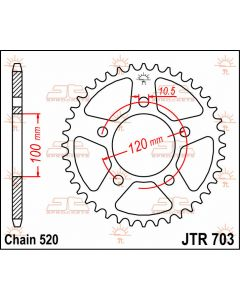 JT Sprockets Rear 47T 520 - JTR703.47