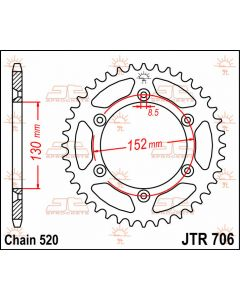 JT Sprockets Rear 48T 520 - JTR706.48