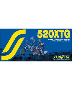 SUNSTAR SPROCKETS RIVET LINK 520XTG GOLD