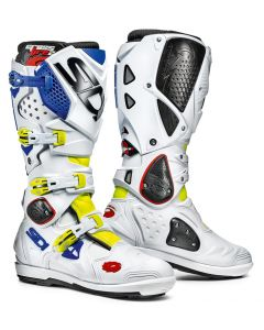 Sidi Crossfire 2 SRS Textile Boot Yellow/White/Blue
