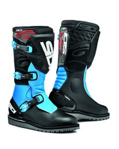 Sidi Trial Zero 1 Leather Boot Black/Light Blue