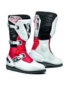 Sidi Trial Zero 1 Leather Boot White/Red