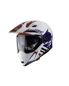 Caberg X-Trace Adventure & Dual Sport Helmet Lux  White/Red/Blue