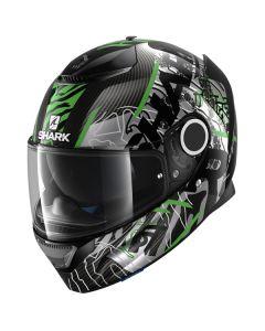 Shark Spartan Carbon Daksha Helmet Carbon/Green/Black