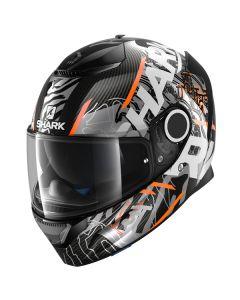 Shark Spartan Carbon Daksha Helmet Carbon/Orange/White