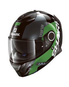 Shark Spartan Apics Helmet Black/Green/Silver