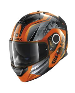Shark Spartan Karken Helmet Orange/Black/Black