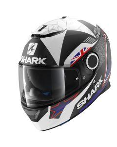 Shark Spartan Redding Helmet Black/Blue/White