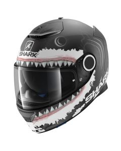 Shark Spartan Lorenzo Helmet Black/White/Anthracite